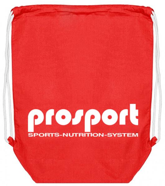 Prosport Stoffrucksack/Beutel rot