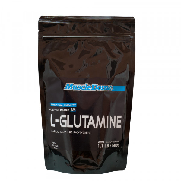 MuscleDome L-Glutamin Powder 500g Zipp-Beutel